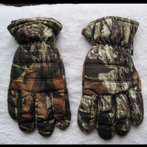 Thinsulate 40g Camo Thick Heavy Winter Boys Gloves